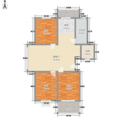 西欧名邸3室1厅1卫0厨119.00㎡户型图