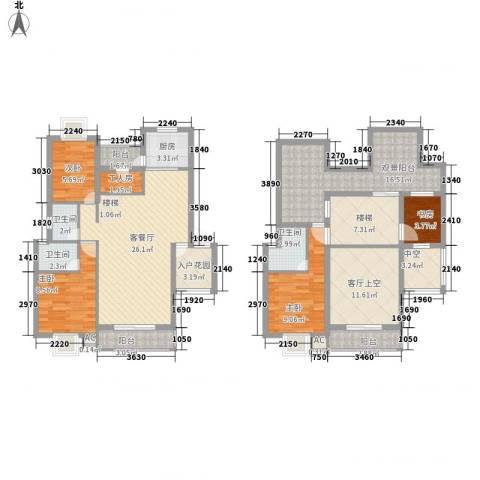 丹桂苑4室1厅3卫1厨170.00㎡户型图