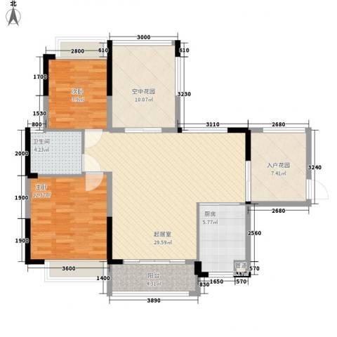 广东街三期2室0厅1卫1厨115.00㎡户型图
