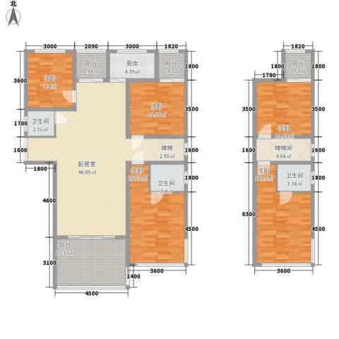 胜发国际广场5室0厅3卫1厨149.76㎡户型图