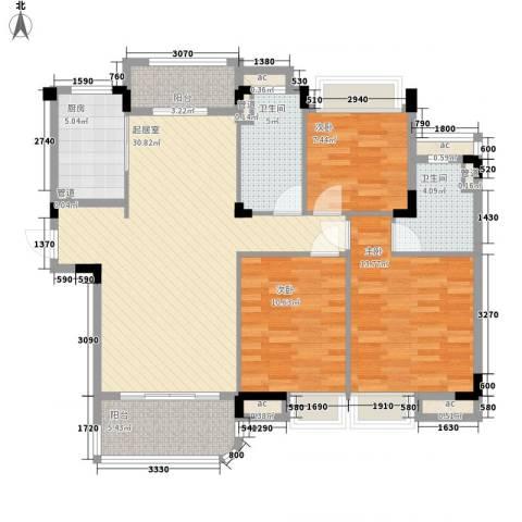 南通碧桂园3室0厅2卫1厨125.00㎡户型图