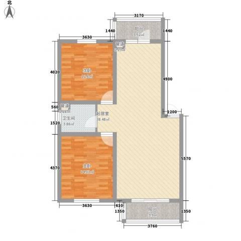 馨合佳园2室0厅1卫0厨76.86㎡户型图