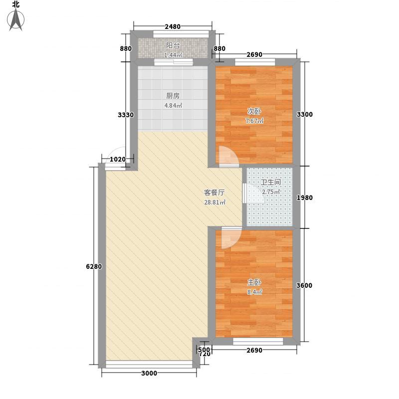 明城嘉苑户型图明城盛都 2室2厅1卫1厨