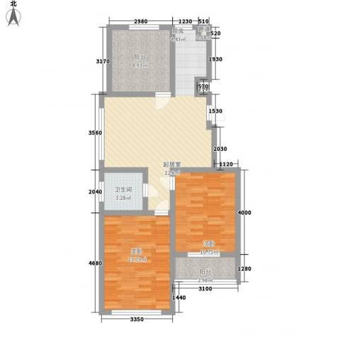 金世湾2室0厅1卫0厨90.00㎡户型图