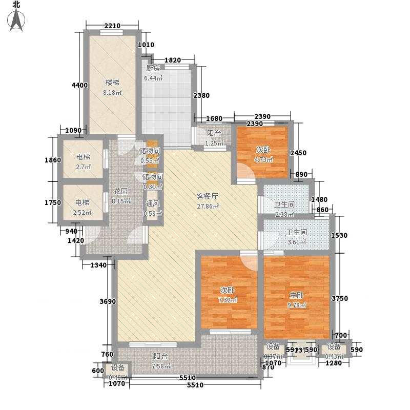 汇景名豪143.42㎡2#楼枫丹白露户型3室2厅2卫1厨