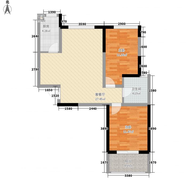 翡翠公馆90.51㎡翡翠公馆户型图B户型2室2厅1卫1厨户型2室2厅1卫1厨