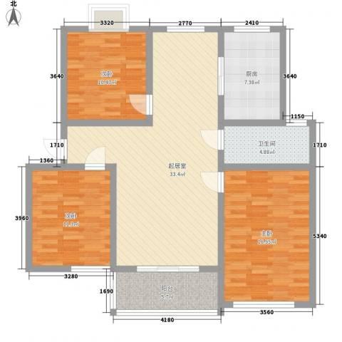 文彦山庄3室0厅1卫1厨122.00㎡户型图