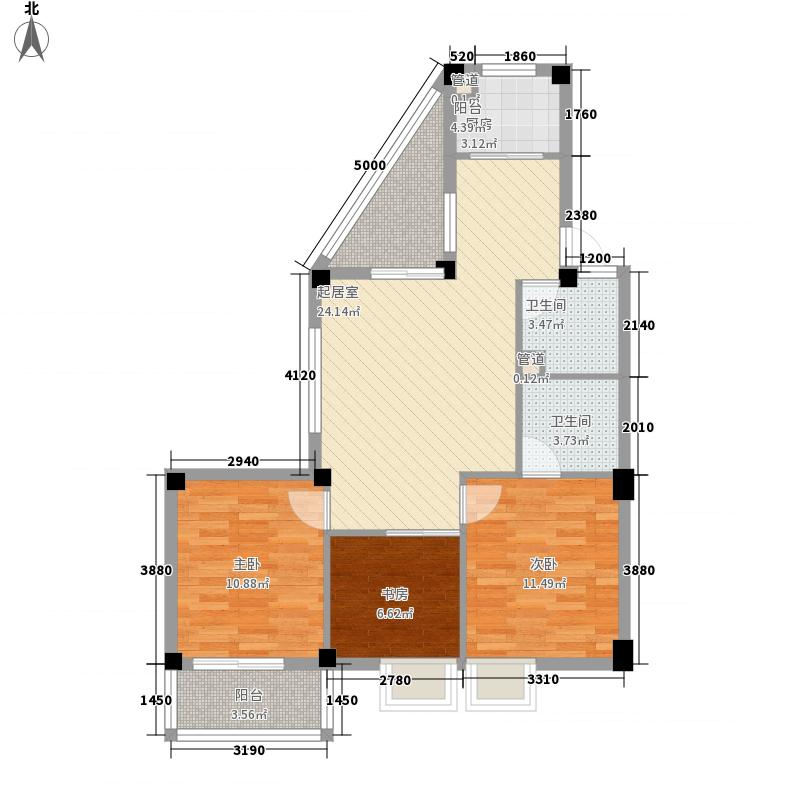 永兴洋房103.34㎡永兴洋房户型图3室2厅2卫1厨户型10室