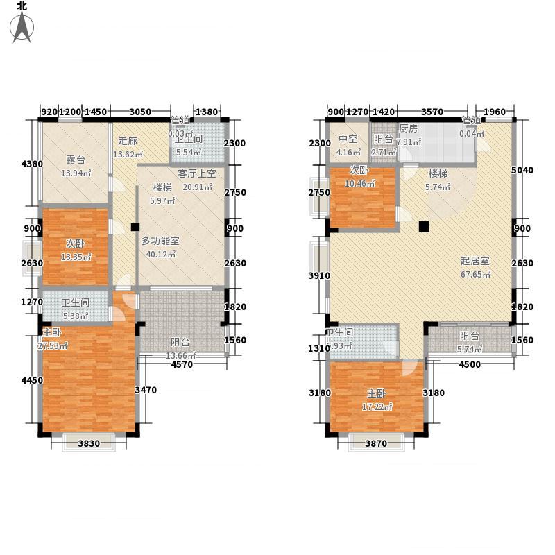 中房翡翠园228.89㎡东坡阁8户型4室2厅3卫1厨
