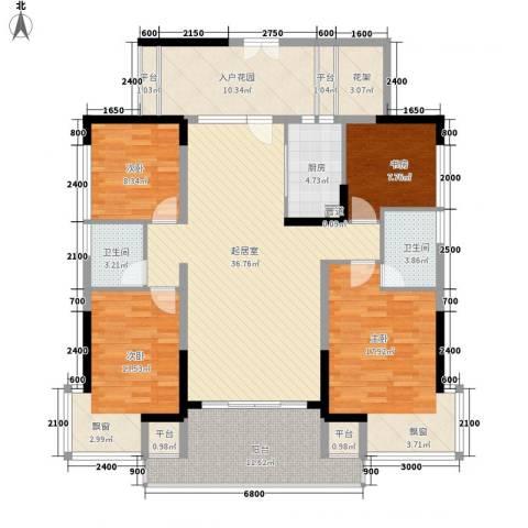 城投・七里香榭4室0厅2卫1厨178.00㎡户型图
