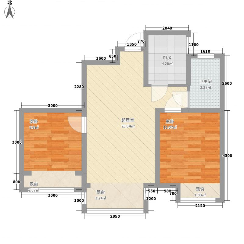 汇福悦榕湾76.24㎡6#、9#楼户型