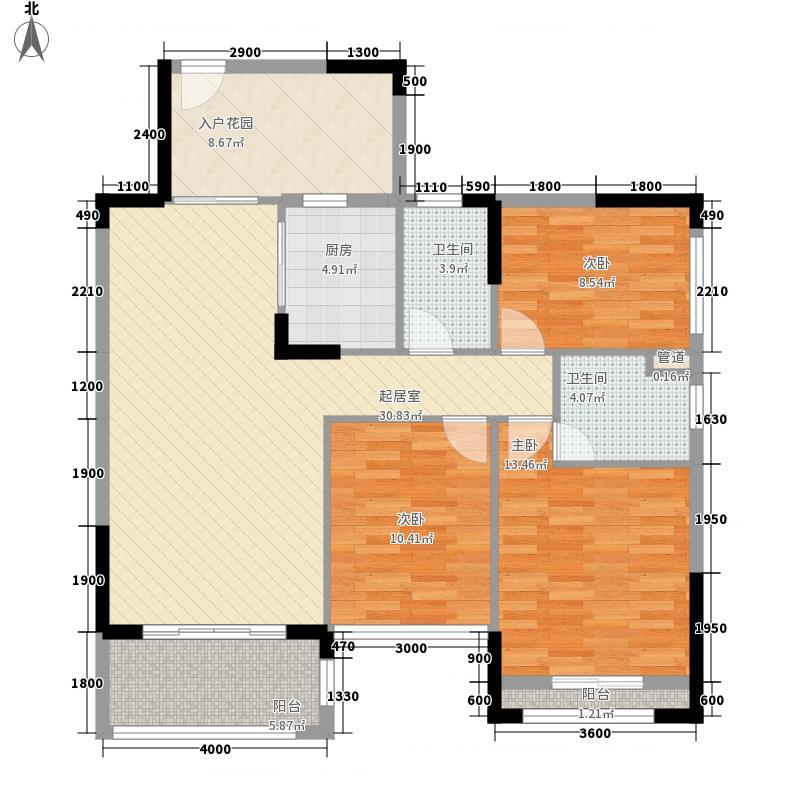 格林童话世界别墅14.52㎡三期洋房A1户型3室2厅2卫1厨