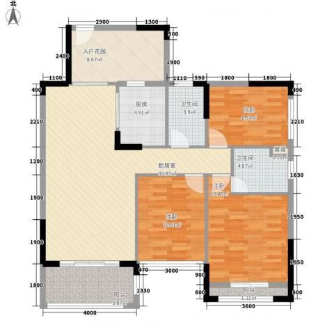 格林童话世界别墅3室0厅2卫1厨92.03㎡户型图