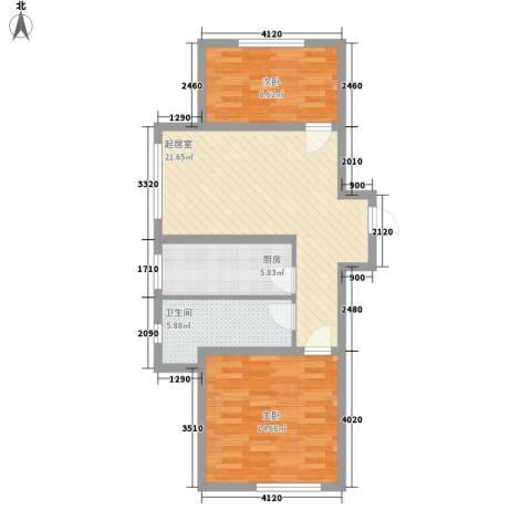 黎明生活坊2室0厅1卫1厨81.00㎡户型图