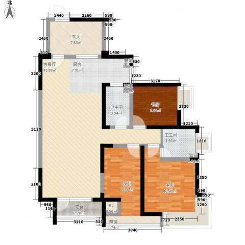 格林生活坊3室1厅2卫0厨115.00㎡户型图