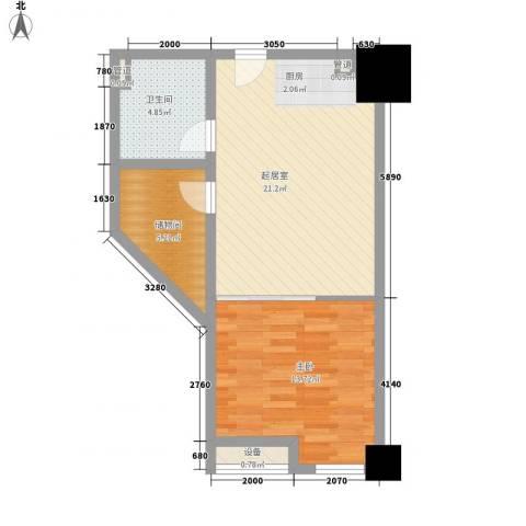 乐客来国际商业中心1室0厅1卫0厨54.00㎡户型图