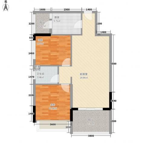 格林童话世界别墅2室0厅1卫1厨70.35㎡户型图