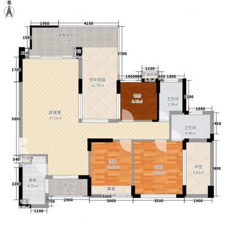城投・七里香榭3室0厅2卫1厨156.00㎡户型图