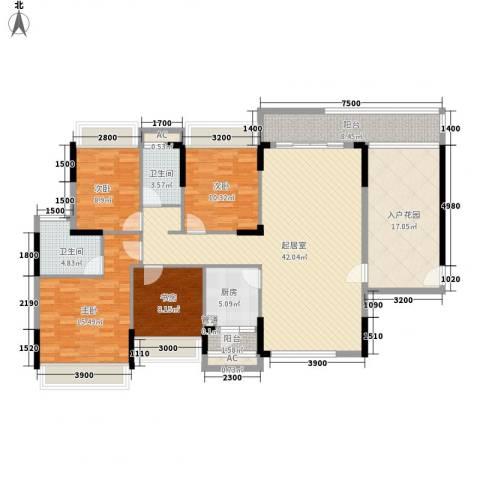 金地格林上院三期4室0厅2卫1厨143.00㎡户型图