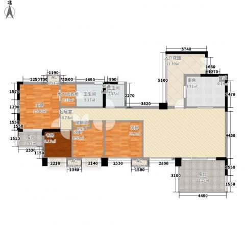 万科虹溪诺雅别墅4室0厅2卫1厨168.00㎡户型图