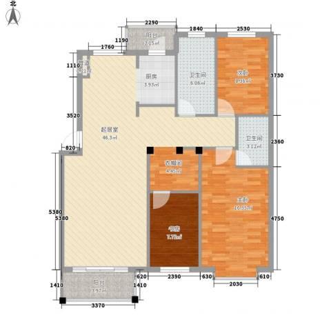 朗悦华园3室0厅2卫0厨131.00㎡户型图