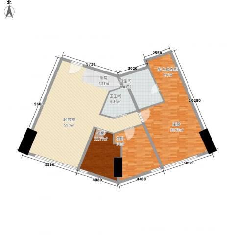 世茂铂晶宫3室0厅2卫0厨184.00㎡户型图