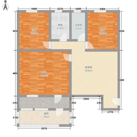 韩家窑小区3室0厅1卫1厨145.00㎡户型图