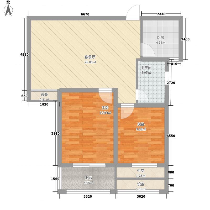 奇瑞新里城83.77㎡奇瑞新里城户型图1、2、4、8#楼B2户型2室1厅1卫1厨户型2室1厅1卫1厨