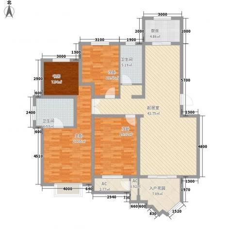 信达尚城3室0厅2卫1厨158.00㎡户型图