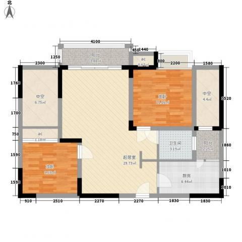 森柯香渝园2室0厅1卫1厨86.00㎡户型图