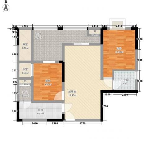 森柯香渝园2室0厅1卫1厨79.69㎡户型图