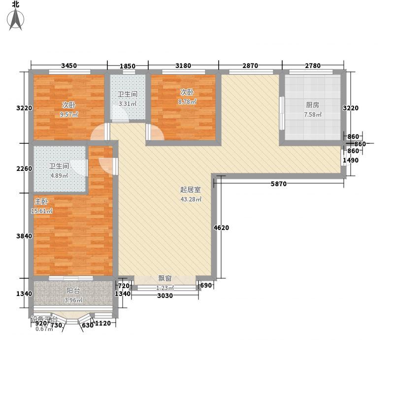 荣豪花园138.87㎡4号楼A/D户型3室2厅2卫1厨