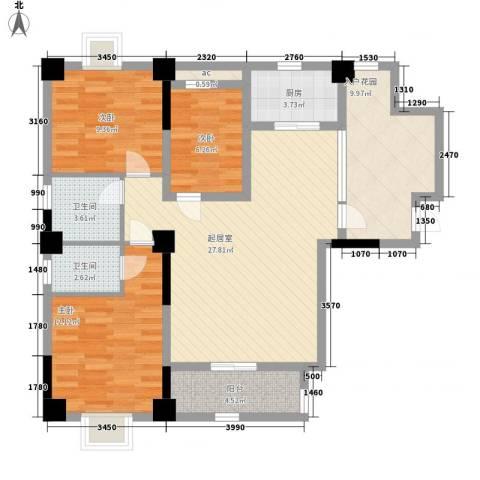 幸福源3室0厅2卫1厨119.00㎡户型图