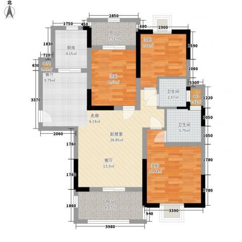 幸福源3室0厅2卫1厨111.00㎡户型图