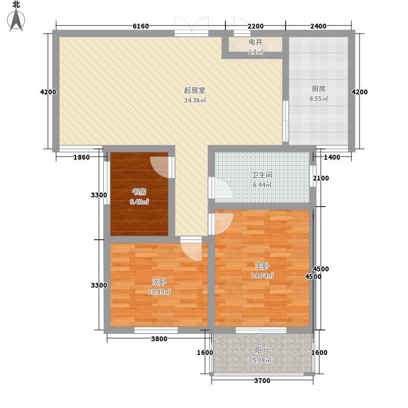 御府园11.66㎡K户型3室2厅1卫1厨