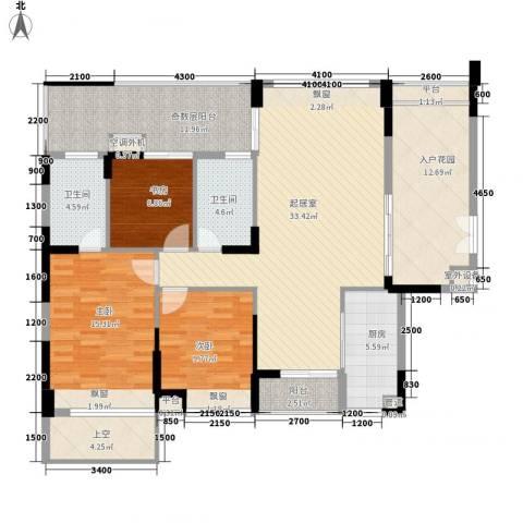 城投・七里香榭3室0厅2卫1厨161.00㎡户型图