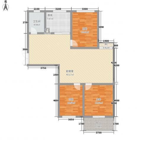 御府园3室0厅1卫1厨97.82㎡户型图