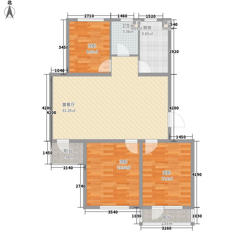 佰世品德104.00㎡佰世品德户型图J3室2厅1卫户型3室2厅1卫