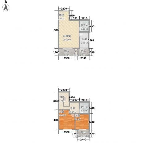 人和天地2室0厅2卫1厨98.00㎡户型图