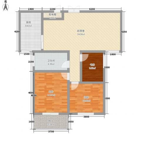 御府园3室0厅1卫1厨88.45㎡户型图