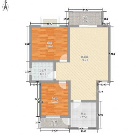 人和天地2室0厅1卫1厨85.00㎡户型图