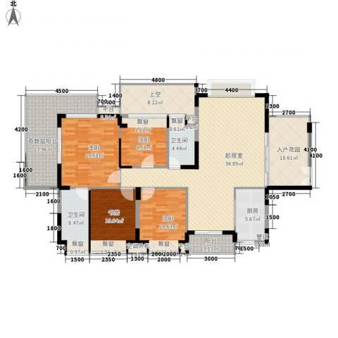 城投・七里香榭4室0厅2卫1厨192.00㎡户型图
