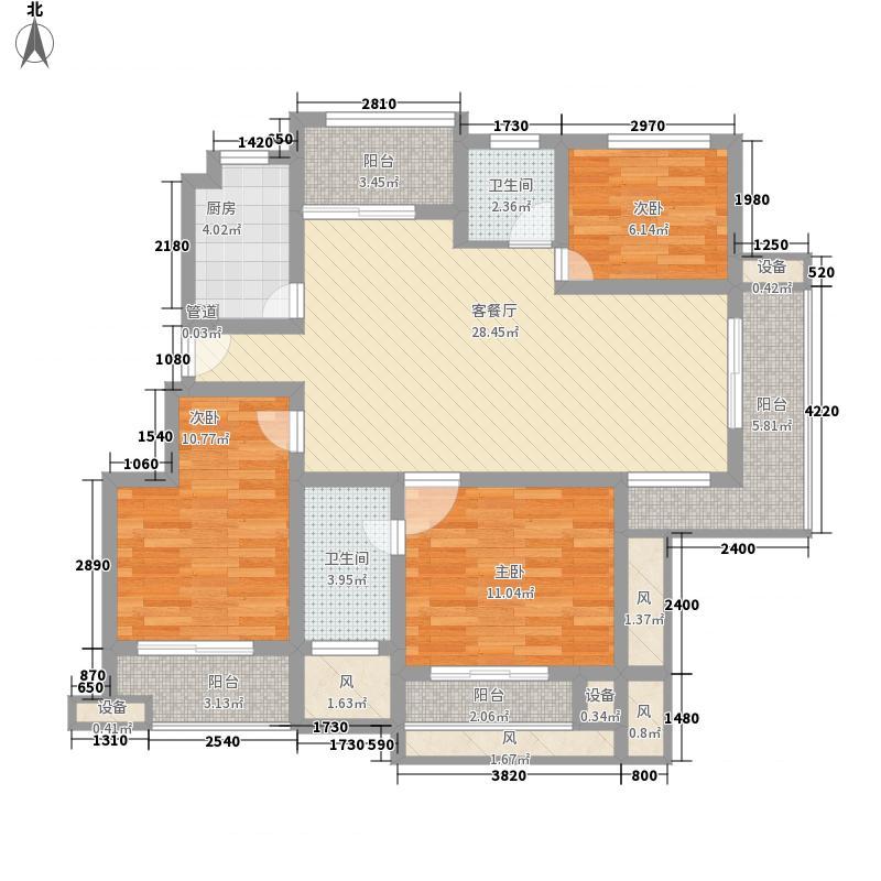 红太阳国际财智广场一期标准层C2-1户型