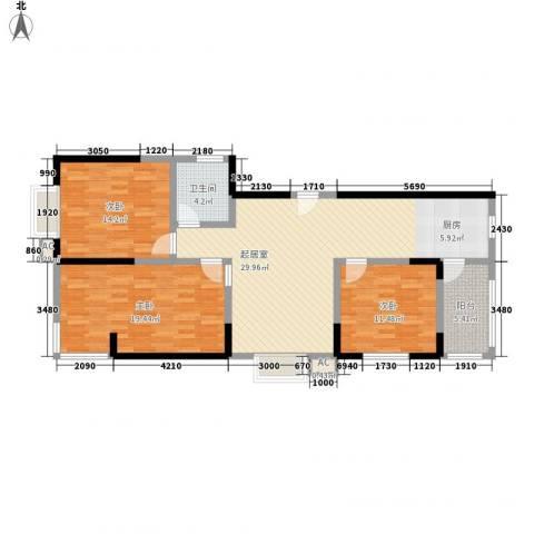 北美枫情3室0厅1卫0厨134.00㎡户型图