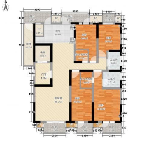 藏品�山湾4室0厅2卫0厨180.00㎡户型图