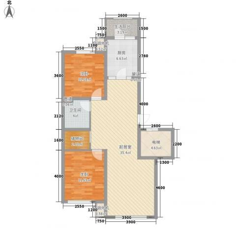 南郡水�天三�2室0厅1卫1厨102.00㎡户型图