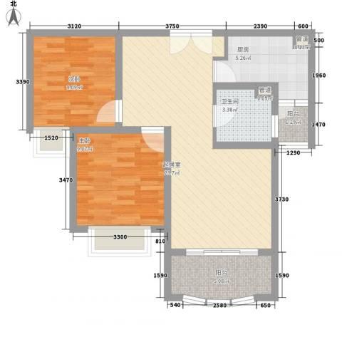 紫御城2室0厅1卫1厨85.00㎡户型图