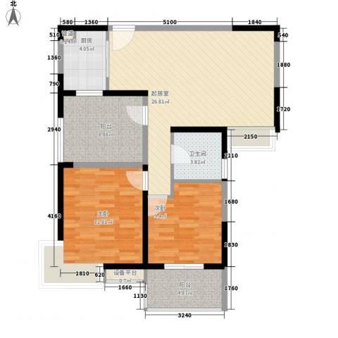 华邦世贸城2室0厅1卫1厨93.00㎡户型图
