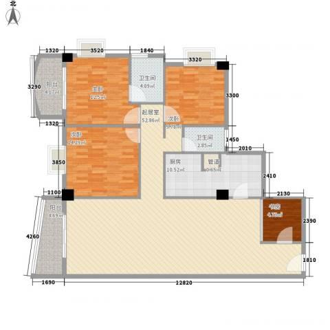颐和上院二期4室0厅2卫1厨145.00㎡户型图