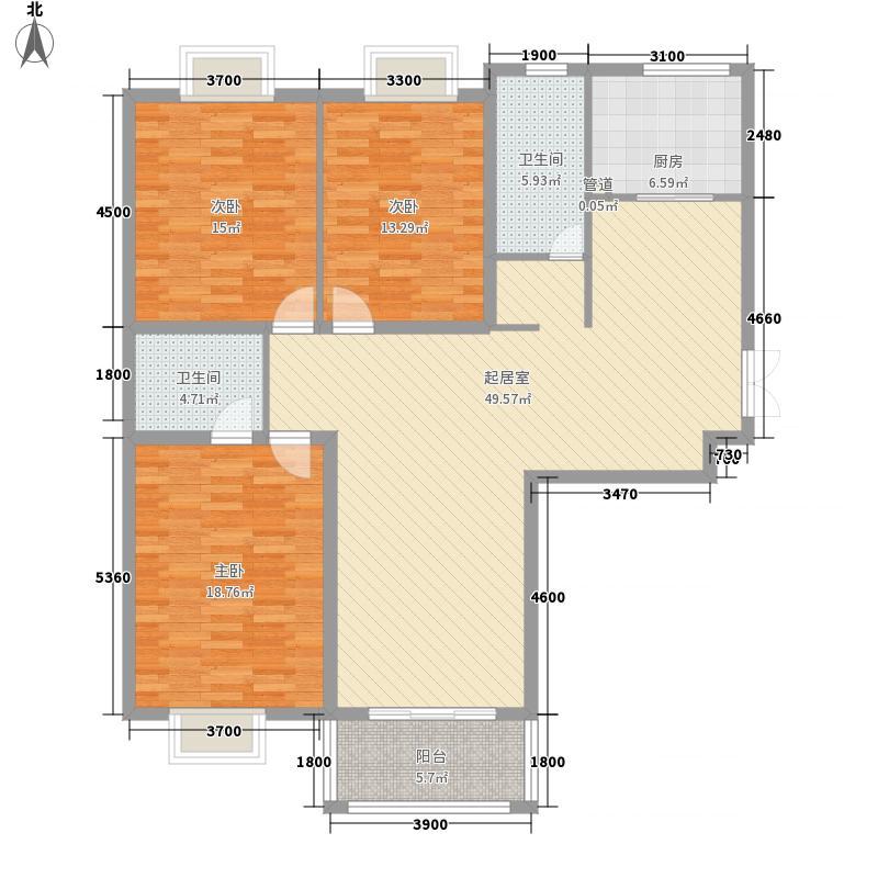黄金花园98.00㎡黄金花园3室户型3室